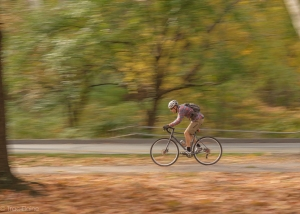 Cyclist in Fairmount Park