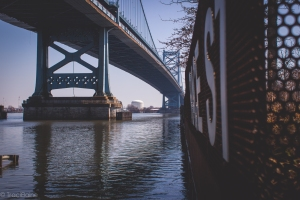 Ben Franklin Bridge from Race Street Pier