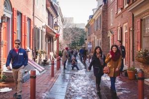 Elfreth's Alley is America's oldest Residential Neighborhood