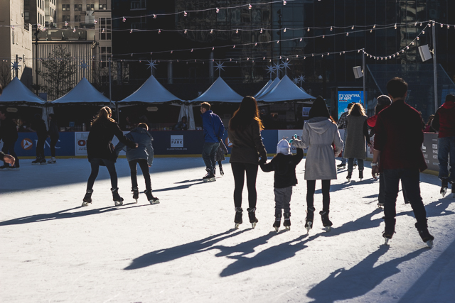 Philadelphia Dilworth Plaza: Ice Skating Outside the Shadows