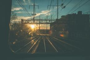 Philadelphia   Sunset from the Train